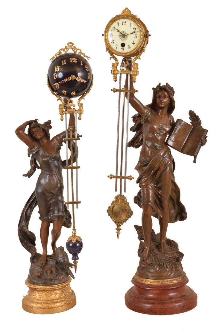 Figural swinger clocks