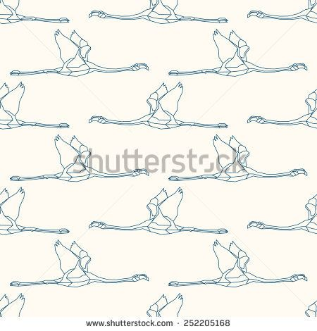 Seamless pattern with flamingo 1 #vectorpattern #patterndesign #seamlesspattern #animals #geometric