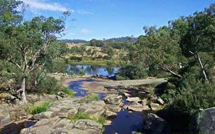 Polly McQuinns Weir, favorite swimming hole when I lived in Euroa, Victoria, Australia. Good place to see a platypus.