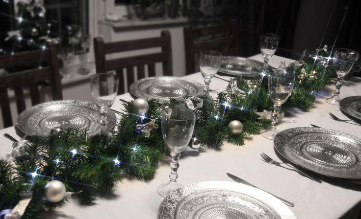 Dekorasjon til julebesøk #christmas #table