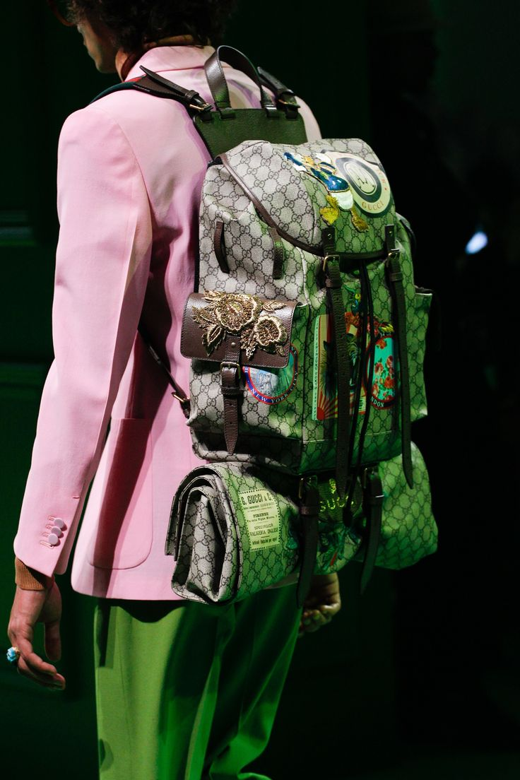 Gucci Spring 2017 Menswear Fashion Show Details Ebags BackPack Tumblr | leather backpack tumblr | cute backpacks tumblr http://ebagsbackpack.tumblr.com/