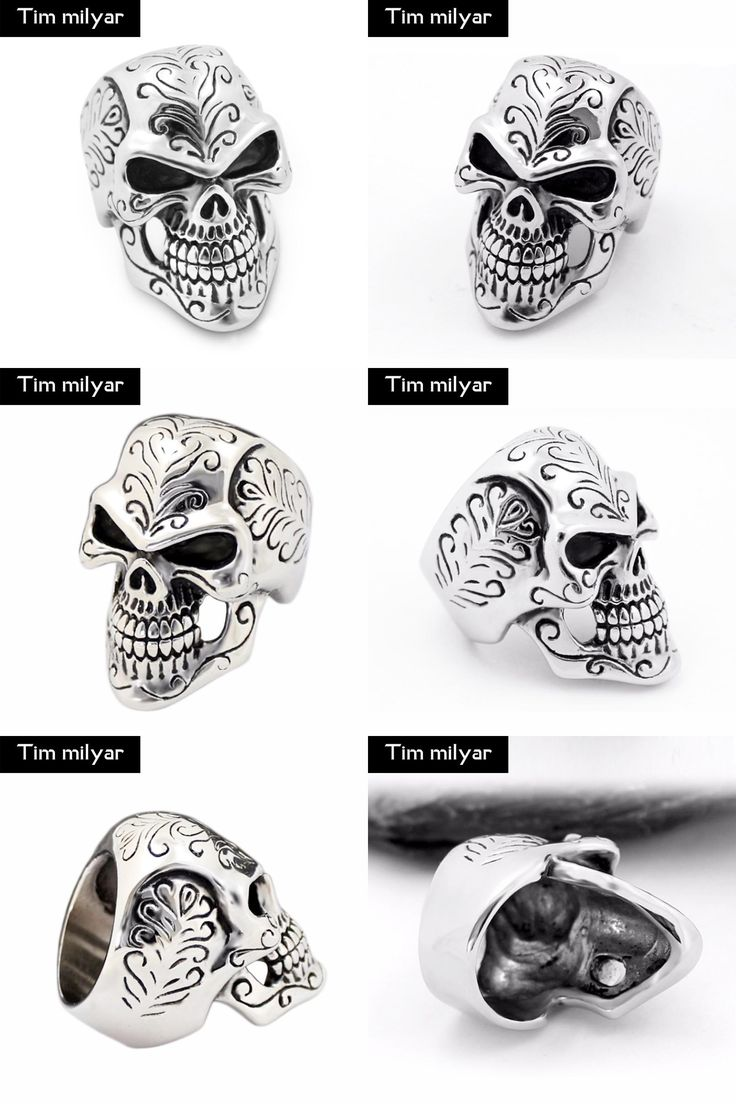 [Visit to Buy] Skull Ring Men Punk Gothic Anillos Stainless Steel Vintage Rings For Men Alianzas De Boda Viking Jewelry New Arrival 2017 #Advertisement