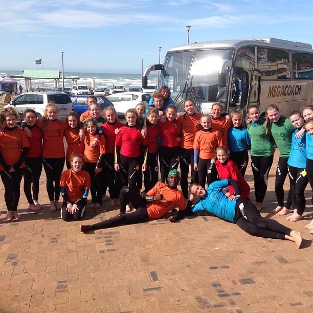 Thomas Clapham School girls learning to surf with the crew from Surfshack supported by @billabonggirls_za @billabongsa @vonzippersouthafrica @vonzipperza - @surfshack_capetown- #webstagram