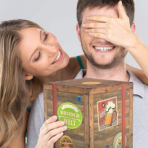 """Das Biergeschenk """"Bester Bruder der Welt"""" ist ein leckeres und originelles Geschenk für deinen Bruder. Egal ob zum Geburtstag, Führerschein oder anderen Anlass."""