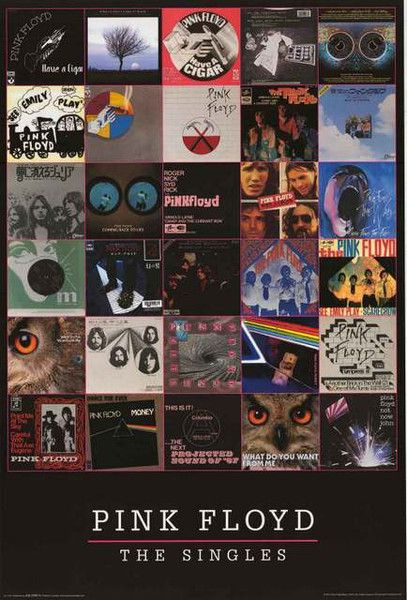 A great poster of picture sleeve album covers from Pink Floyd singles - the Syd…