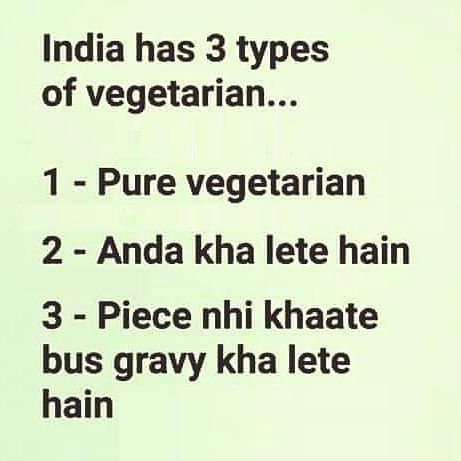 Which type of vegetarian are you? #lazzycow #vegetarian #jokes - http://ift.tt/1HQJd81
