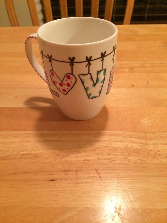 Hand drawn coffee mugs by DelightfullyDainty01 on Etsy