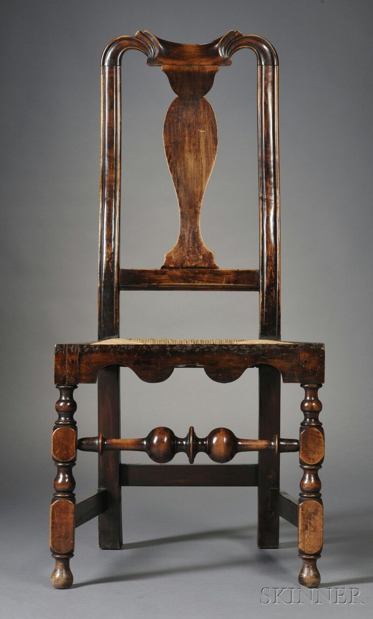 Queen anne chair history - Skinner Queen Anne Carved Maple Side Chair Probably Boston C 1720
