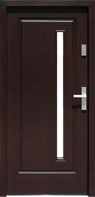 Drewniane wejściowe drzwi zewnętrzne do domu z katalogu modeli klasycznych wzór 577,1