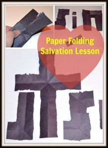 Paper Folding Salvation Lesson Printable: Free directions for those who want to use this gospel presentation