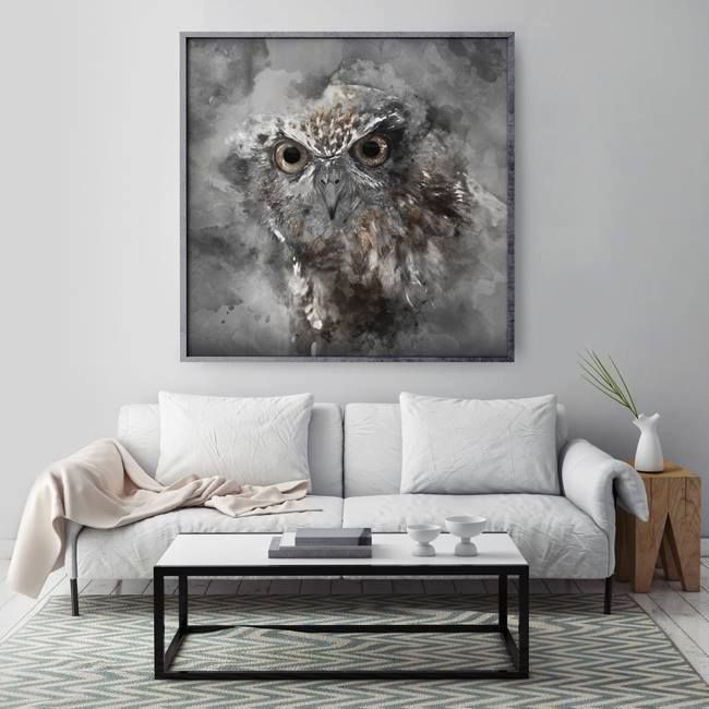 15$/€ Our Project - Owl (created by Hog studio: hogstudio.design@gmail.com)  #frame #poster #white #grey #ideas #gift #wall #design