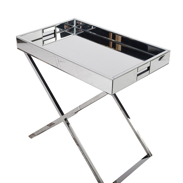 DILIANO MIRRORED TRAY TABLE