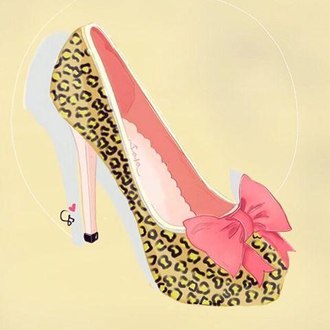 Find me On Instagram @dewisarassati13  #art #drawing #sketch #illustration #artist #digitaldrawing #digitalart #painttoolsai #sketchbookpro #autodesksketchbook #sketchbookX #fashion #shoes #highheels #heels #heel #heelsdrawing #leopard #cute