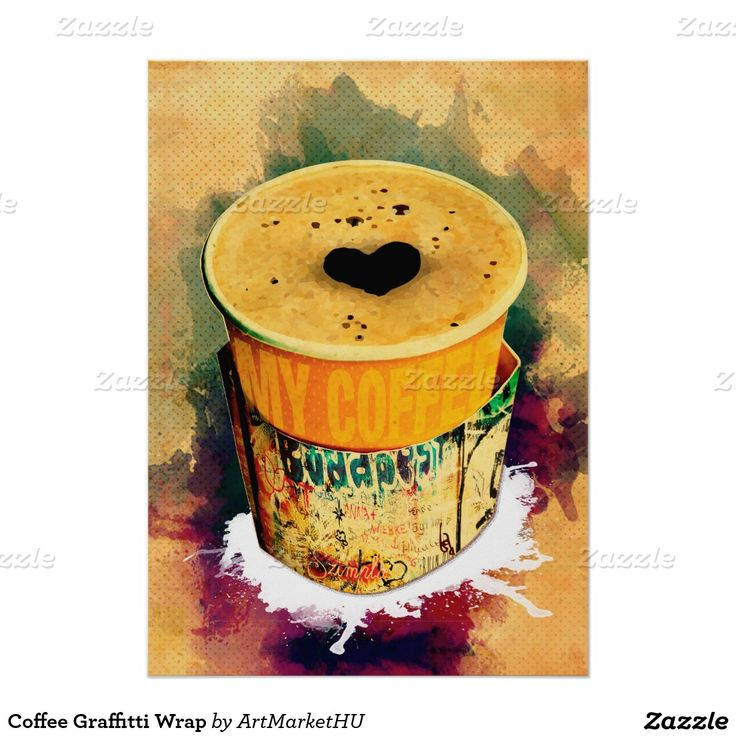Coffee Graffitti Wrap Poster designed by Andras Balogh
