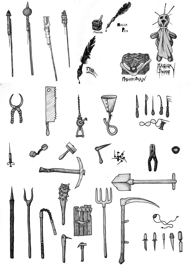 Items, some of them made while gaming, whenever a player found something.