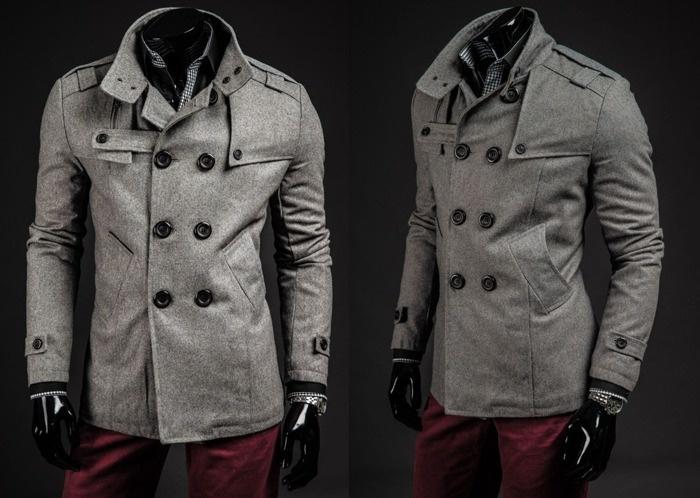 GANEDER 1903 - SZARY | Odzież Dla Niego \ Płaszcze męskie \ Płaszcze ocieplane Kolekcja Męska | Denley - Odzieżowy Sklep internetowy | Odzież | Ubrania | Płaszcze | Kurtki