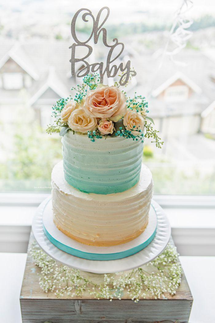 Pastel Gender Neutral Baby Shower Kara S Party Ideas Pastel Baby Shower Baby Shower Cakes Neutral Baby Shower Cakes
