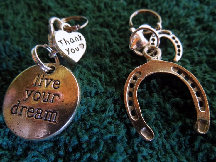Bridle Charm, horse shoe, live your dreams.  YOU CHOOSE by MHAFARMS on Etsy