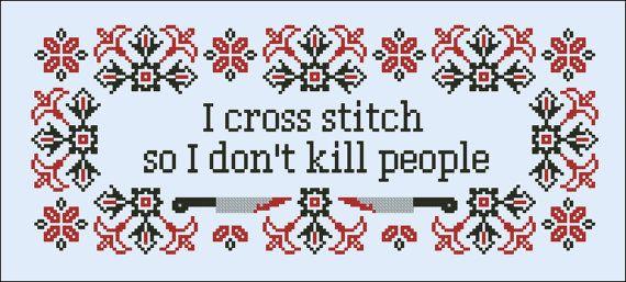 I cross stitch Quote PDF cross stich pattern by cloudsfactory
