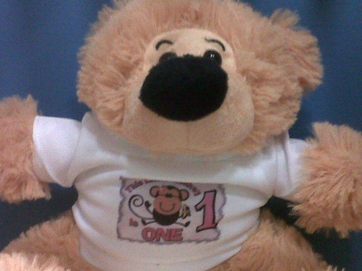 teddie with printed top
