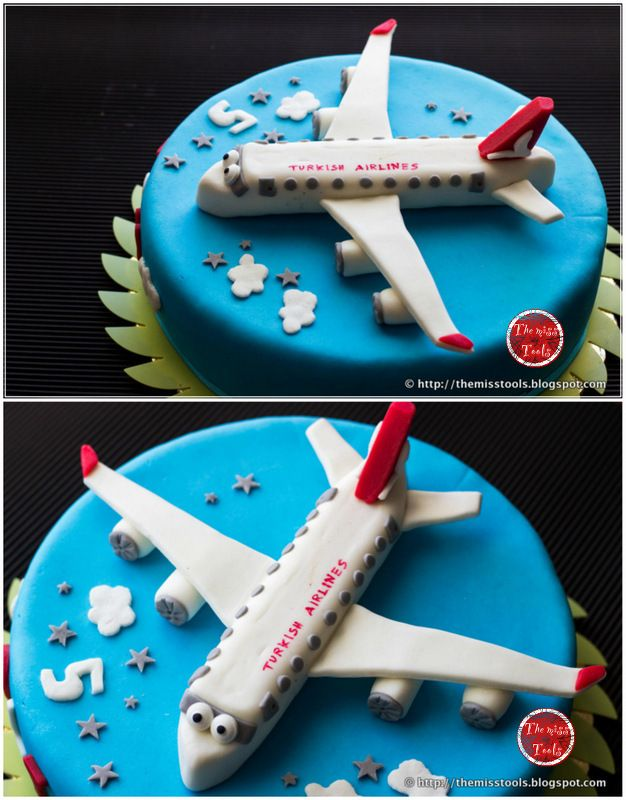 The Miss Tools: Torta compleanno Aeroplano - Airplane Cake Turkish Airlines