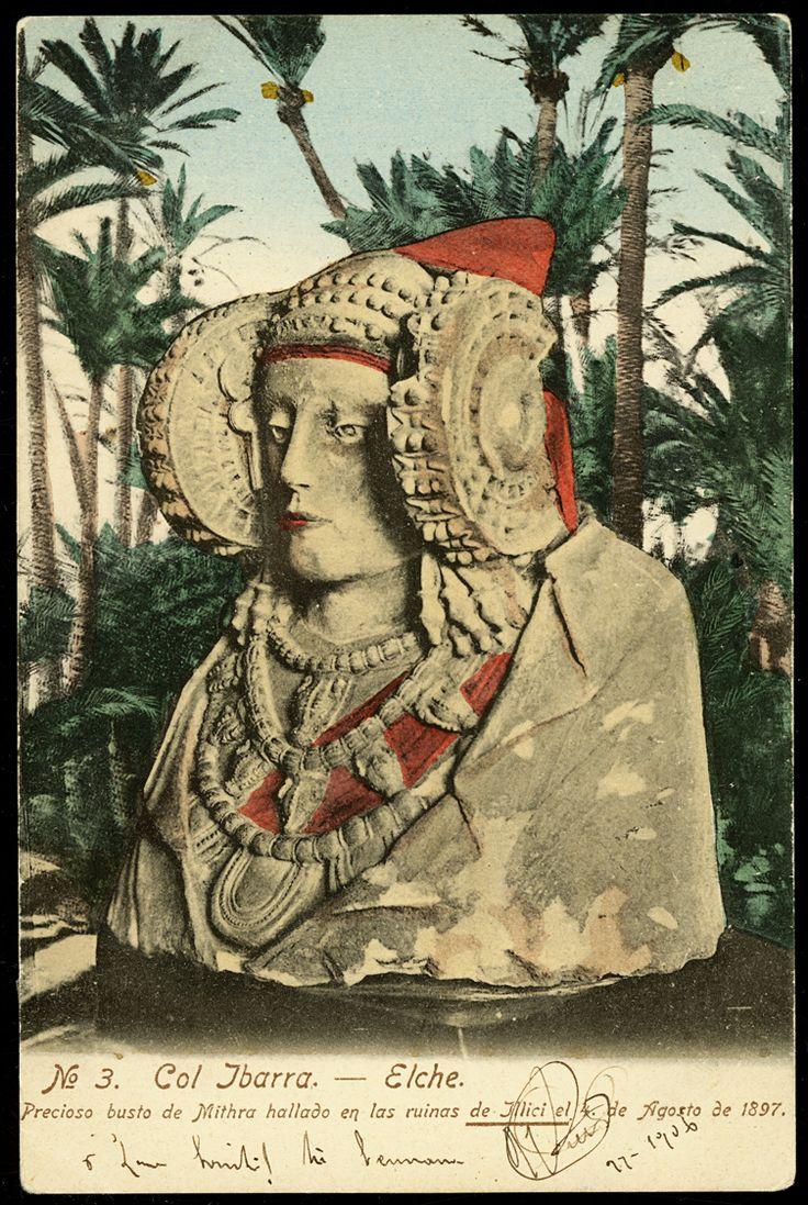 La Dama de Elche, postal anterior a 1906
