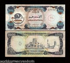 UNITED ARAB EMIRATES 1000 DIRHAMS P6 1976 CAMEL DHOW RARE GULF CURRENCY BANKNOTE