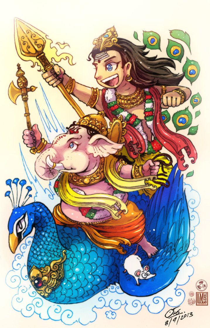 Brother Ganesha and kartik