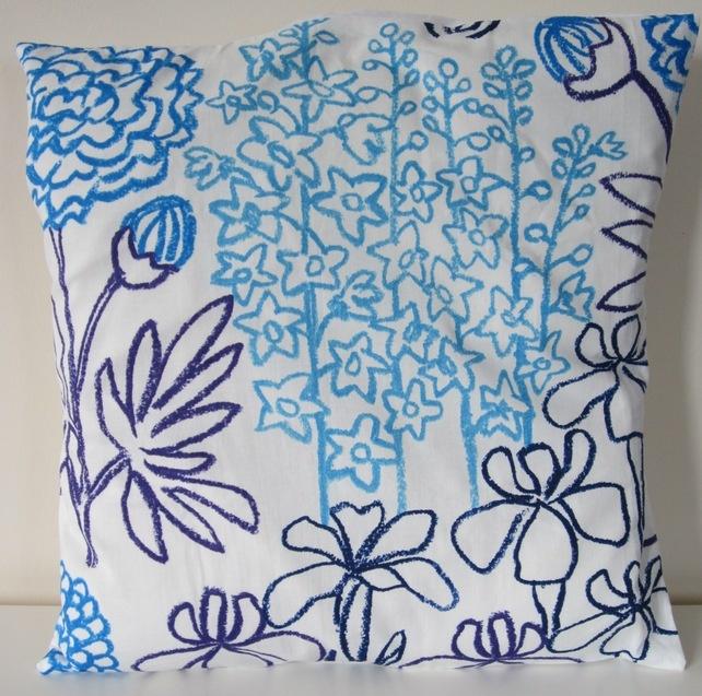 Blue Flowers - Folksy