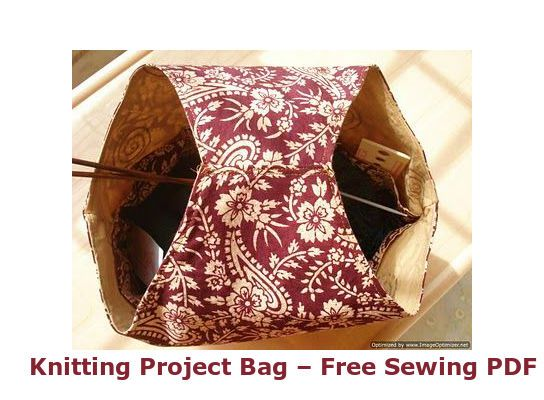 Basic Knitting Project Bag - Free Sewing PDF + Cleaning & Oiling a Sewing Machine