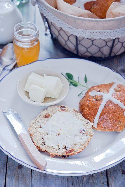 Завтраки, обеды, ужины - Hot cross buns - Английские пасхальные булочки