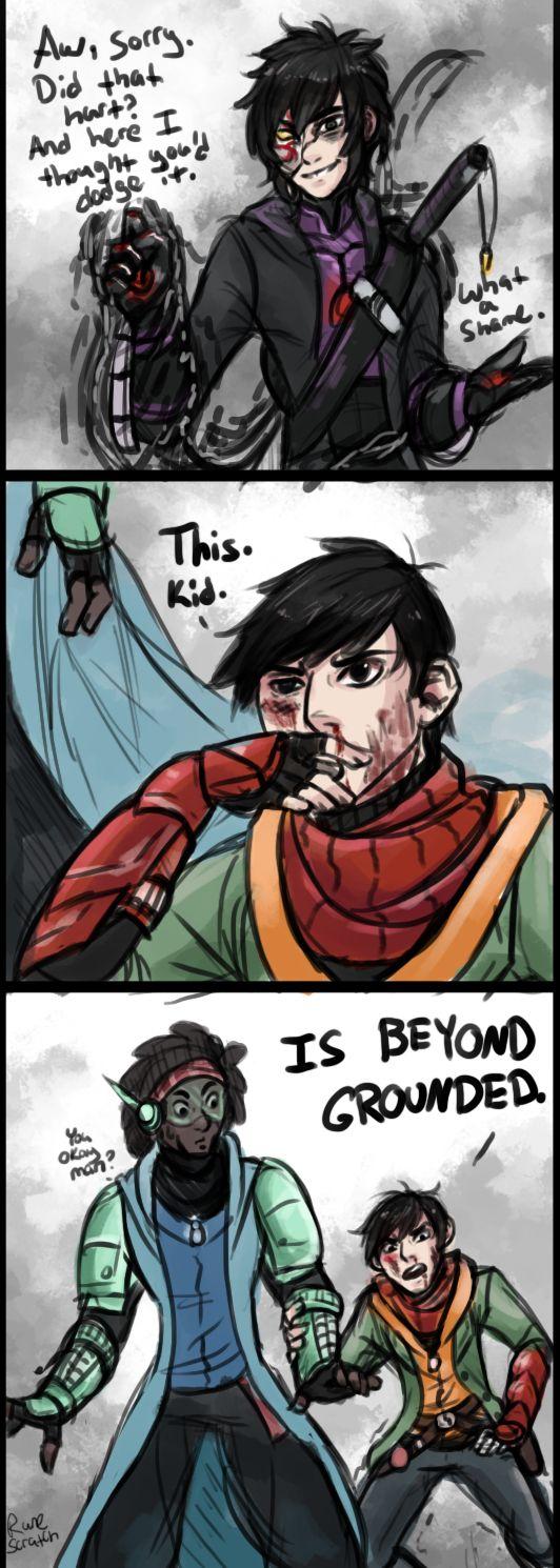 Darkpath AU Hiro: BEYOND GROUNDED. (art credit to runescratch)