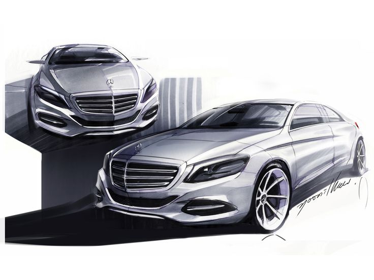 2014 Mercedes-Benz S-Class - Design Sketches