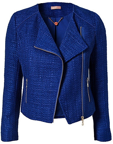 Fit Zip Blazer - Awear - Blue - Jackets and coats - Clothing - NELLY.COM UK