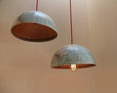WORLD GLOBE Lights -  2 Hanging Light Fixtures, 2 30W Edison Bulbs, Red Cord, 2 Pendant Light Kits