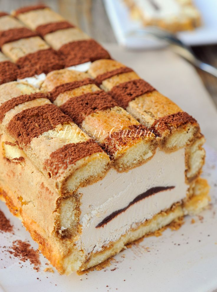 Mattonella di savoiardi alla ricotta e caffe dolce veloce vickyart arte in cucina