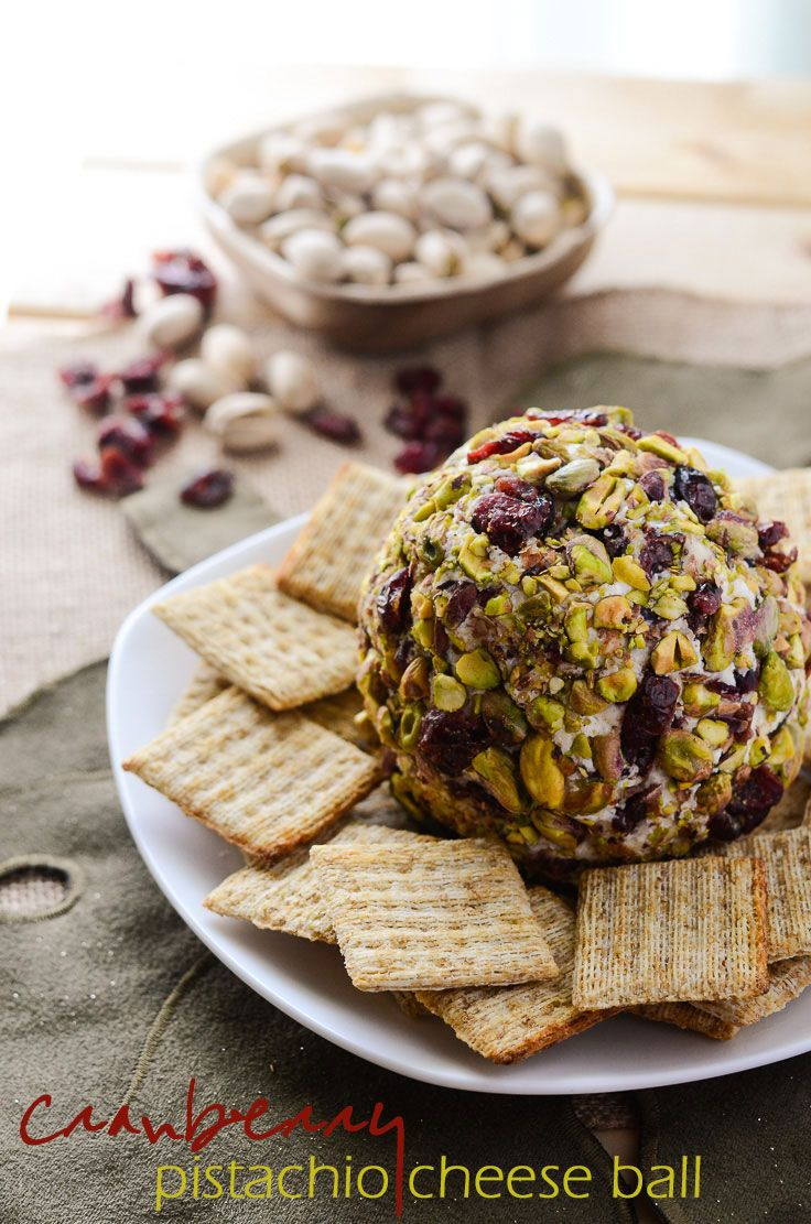 Cranberry Pistachio Cheese Ball - a perfect holiday appetizer   Get the recipe on MyCookingSpot.com!