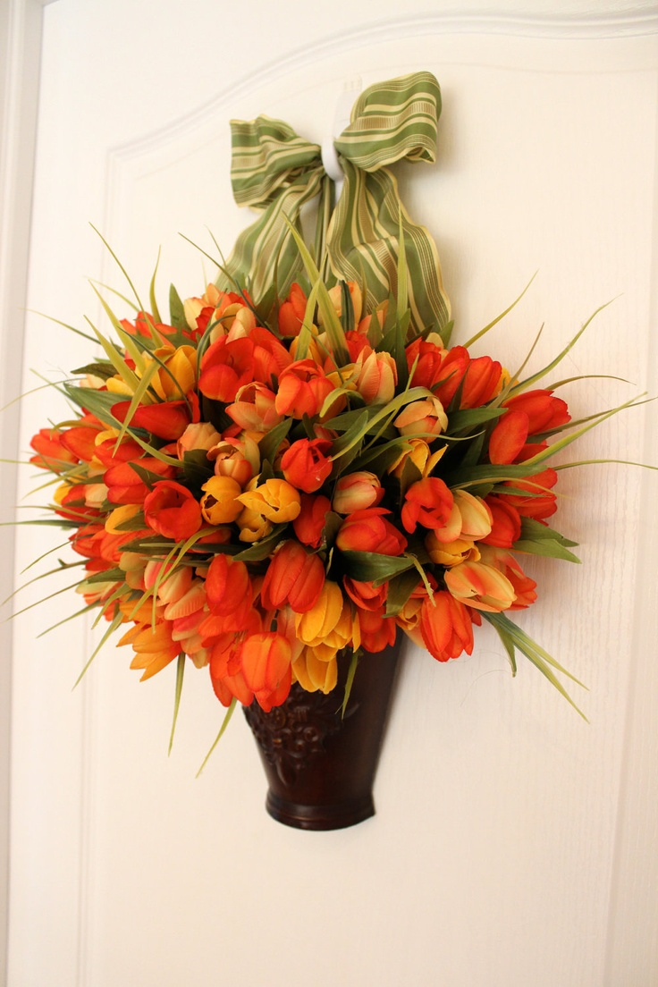 21 best x mas crafts images on pinterest christmas ideas Spring flower arrangements for front door