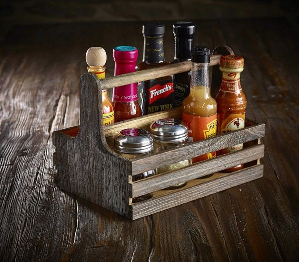 Rustic Wooden Table Caddy                                                                                                                                                                                 More