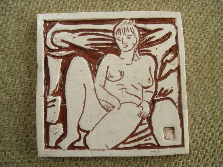 my porcelain tile from lifedrawing for sale on etsy.com/shop/brigolettasart