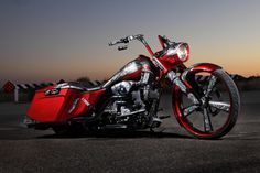 bagger motorcycles | Bagger Gallery » Bagger orange motorcycle image