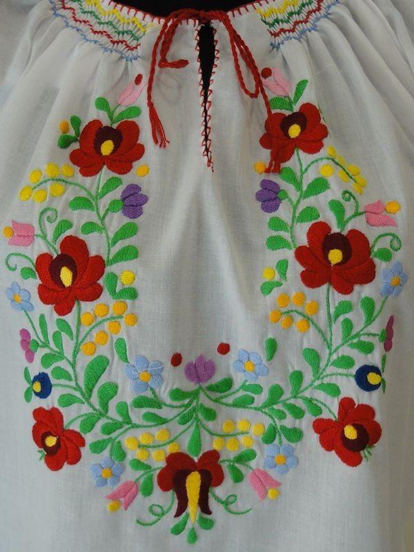 "#Embroidered #blouse with dropped shoulder, elastic waist, crocheted neck and sleeve, small ""matyó"" rosy, purple silk embroidery, XXL - See more at: http://www.itshungarian.com/hungarian-gifts-products-store/blouses/embroidered-blouse-dropped-shoulder-elastic-waist-crocheted-neck-sleeve-small-matyo-rosy-purple-silk-embroidery-xxl-4/#sthash.EerWP4iC.dpuf"