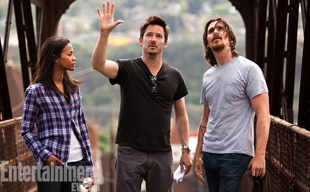 Zöe Saladana, Scott Cooper (director and my cousin!!!) and Christian Bale