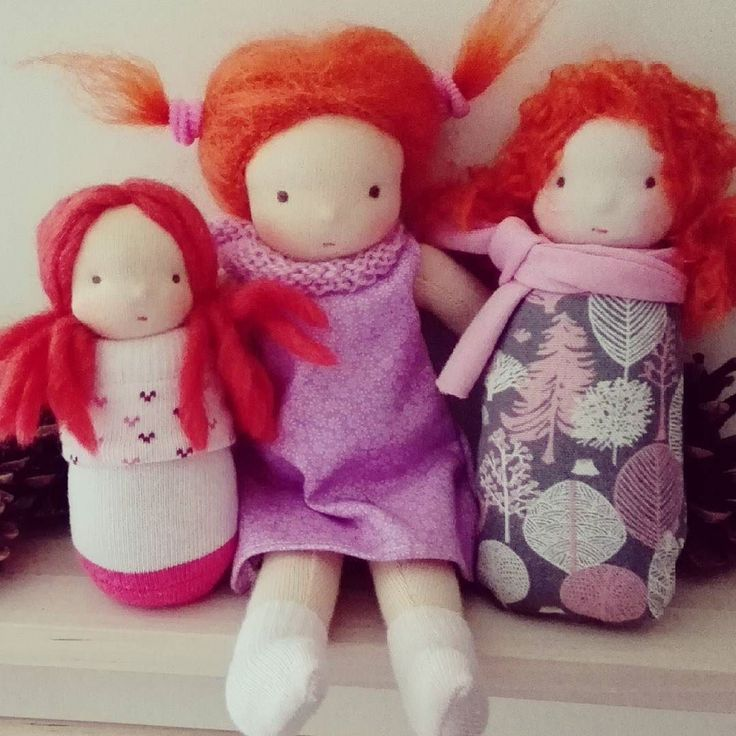 Some more girls. <3  #waldorfdoll #pocketdoll #redhair #redhead #prezent #doll #instadoll #naronka
