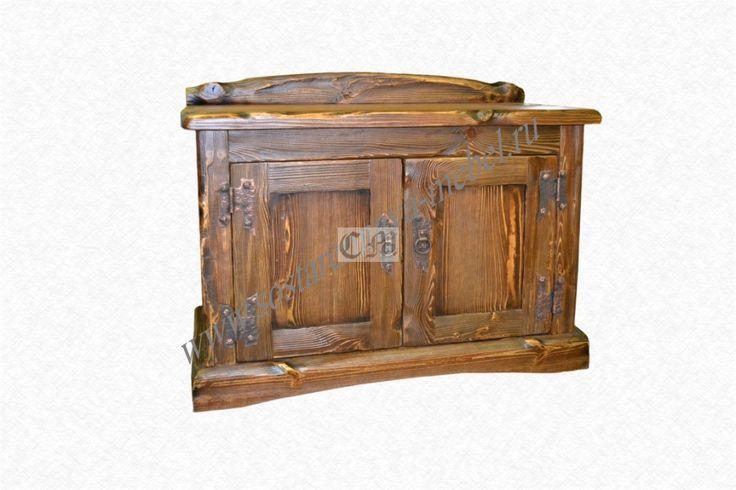 Деревянная тумба под старину