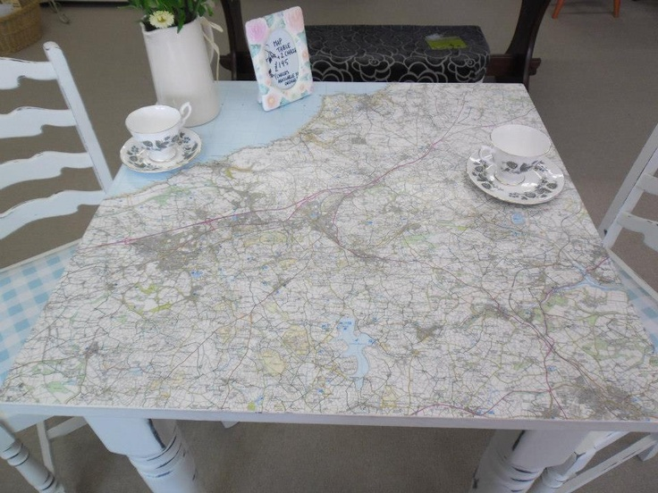 We make these tables to order, this table shows a map of the Redruth area of Cornwall £195