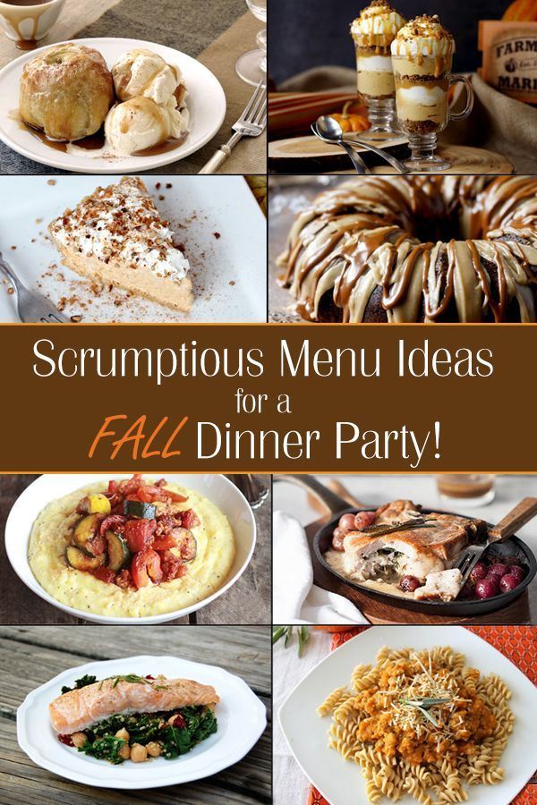Fall Dinner Party Menu Ideas - Ideas for throwing a fall-themed dinner party with recipes that look and taste totally fancy, but are relatively simple to prepare!