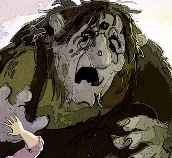 The Great Troll, harmed by the poison spill - (The Eye of the Great Troll)