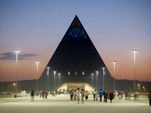 Astana - Kazakistan. New word order, luciferian doctrine with new word satanic leaders