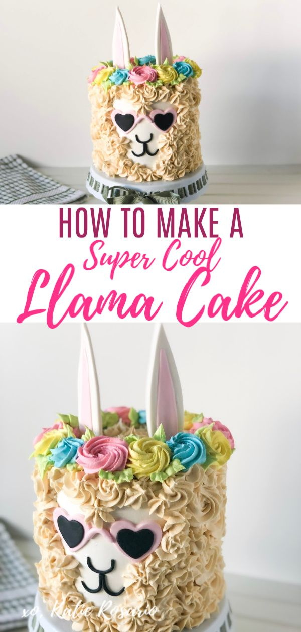 Fabulous Llama Cake Recipe With Images Cake Tutorial Llama Birthday Funny Birthday Cards Online Inifodamsfinfo